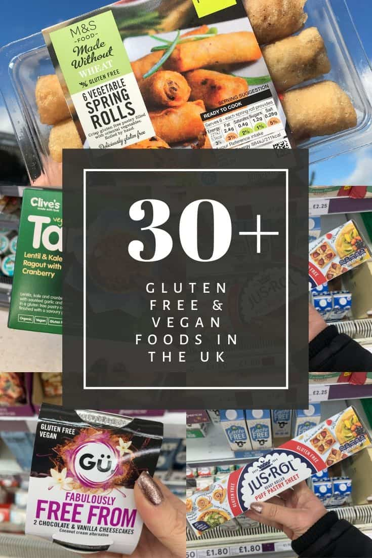 GLUTEN FREE VEGAN FOODS IN THE UK COELIAC CELIAC VEGANUARY INSPIRATION