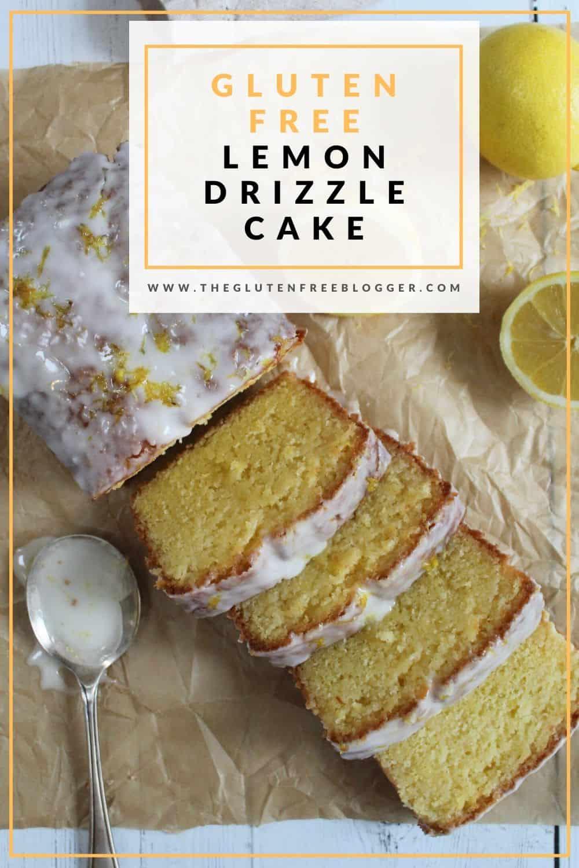 gluten free lemon drizzle cake recipe dairy free coeliac celiac easy bake