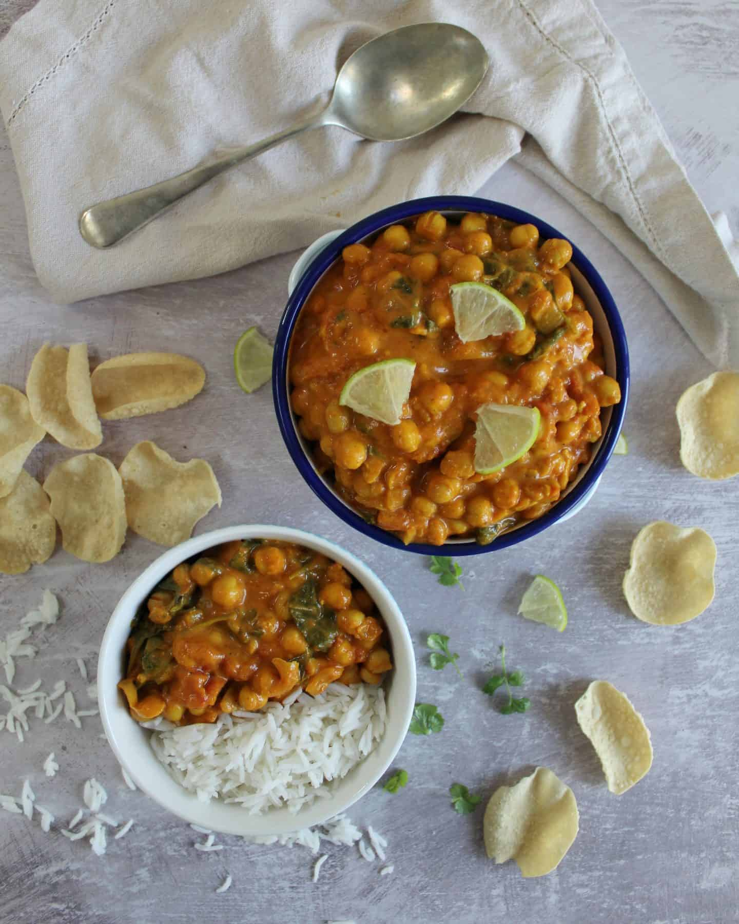 gluten free vegan chickpea curry recipe 3