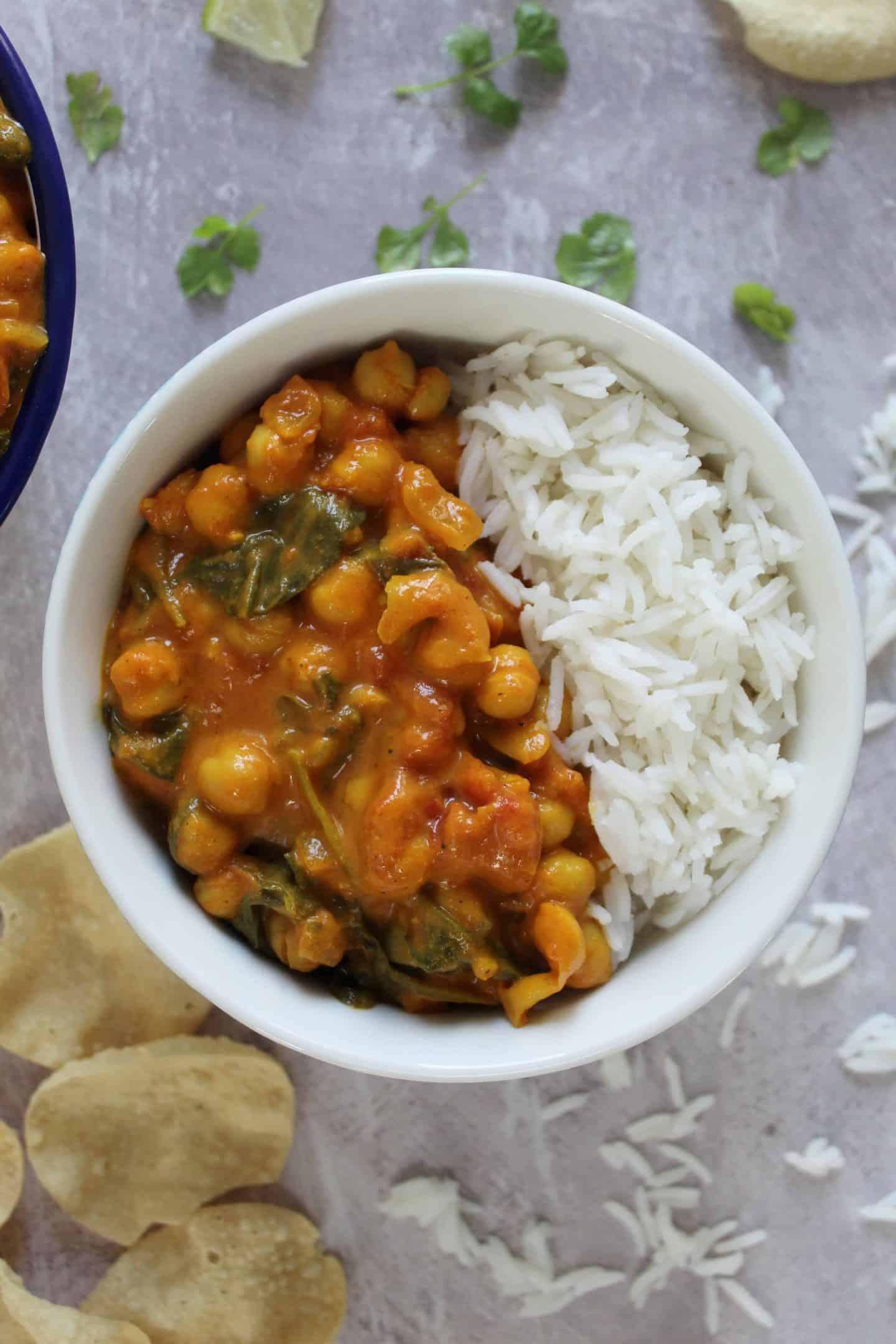 gluten free vegan chickpea curry recipe