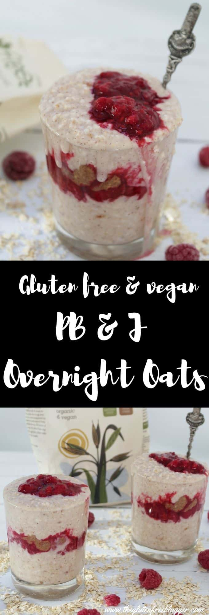 pb&j overnight oats recipe gluten free breakfast ideas coeliac dairy free
