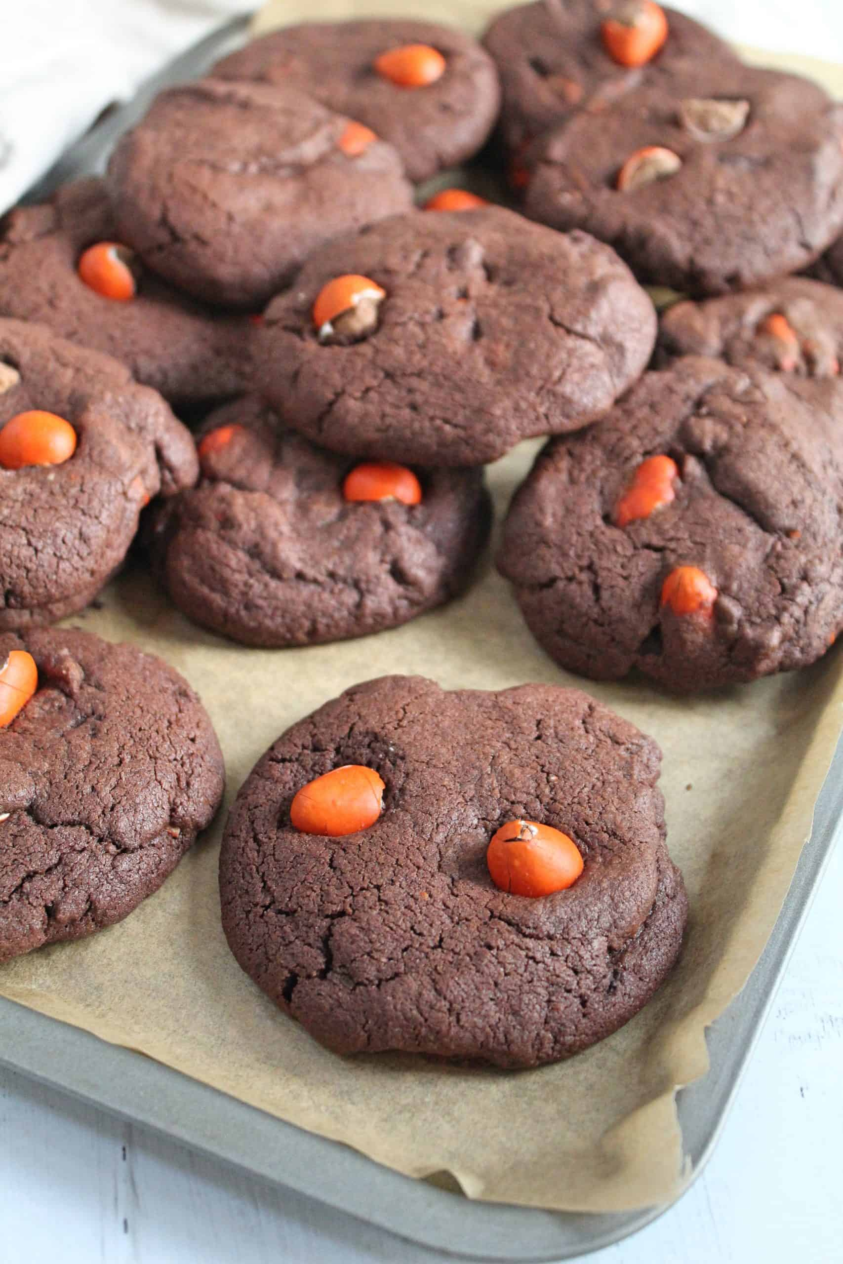 gluten free chocolate orange mini egg cookies recipe