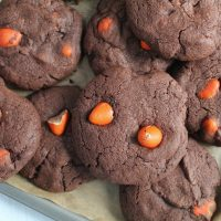 gluten free chocolate orange mini egg cookies recipe