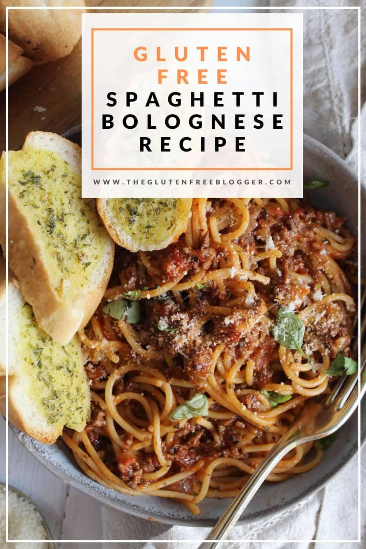 GLUTEN FREE SPAGHETTI BOLOGNESE RECIPE GLUTEN FREE PASTA SAUCE EASY ITALIAN DINNER IDEAS