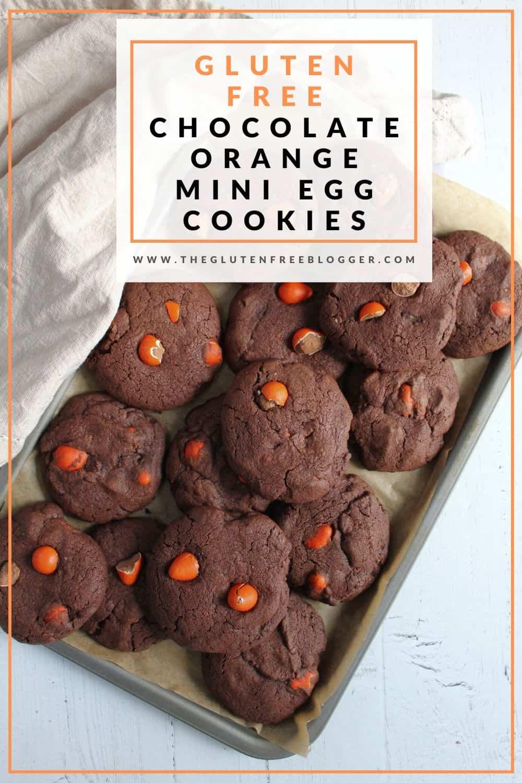 gluten free chocolate orange mini egg cookies recipe easter bakes coeliac celiac chocolate