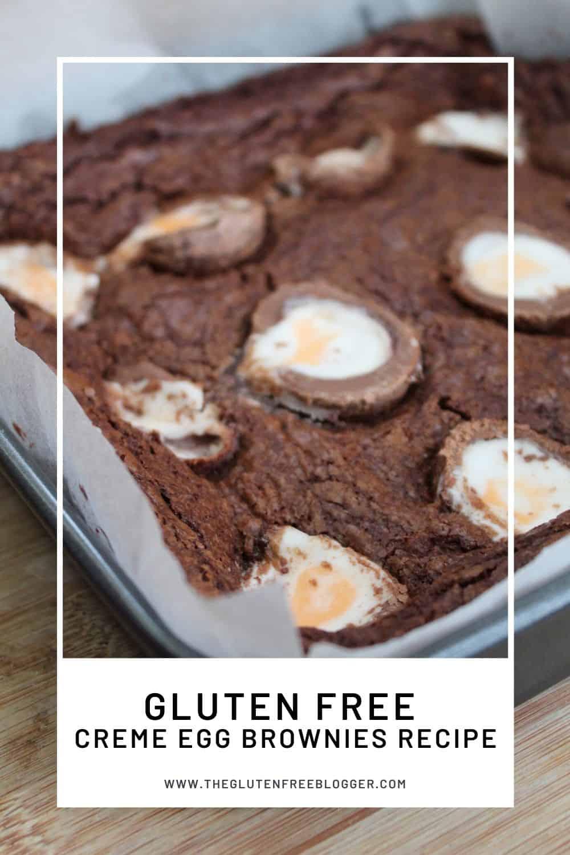 gluten free creme egg brownies recipe easter baking cakes baking coeliac