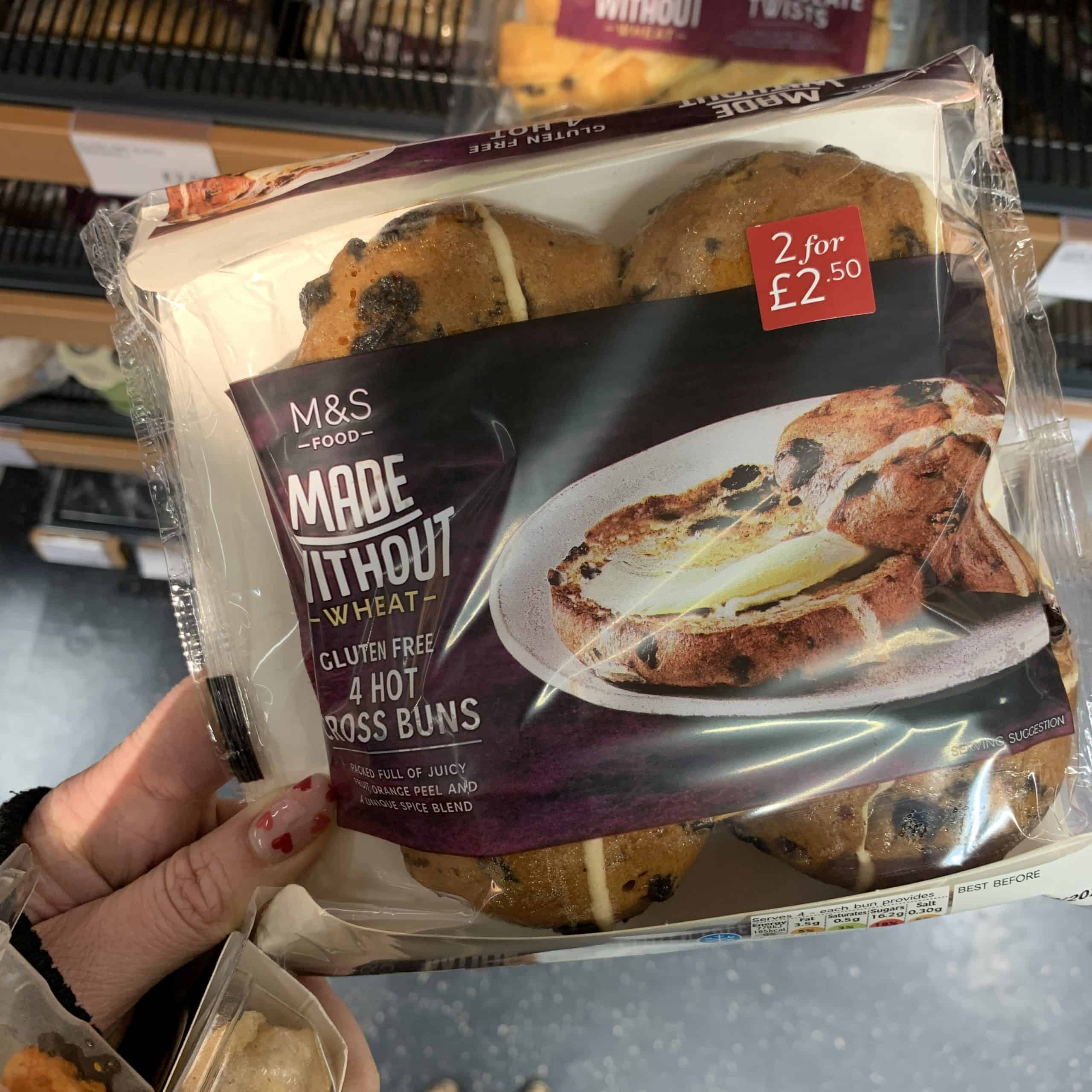 marks and spencer gluten free hot cross buns