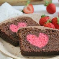 gluten free hidden heart cake chocolate vanilla 40