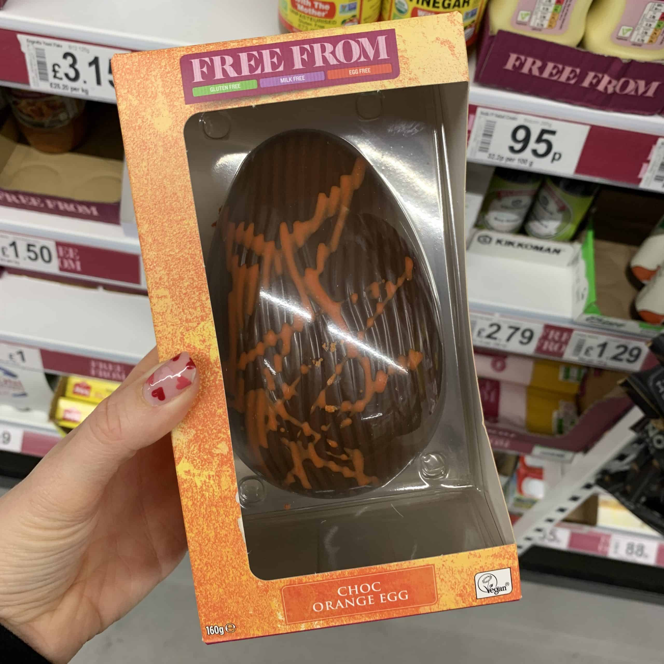 asda chocolate orange vegan easter egg gluten free
