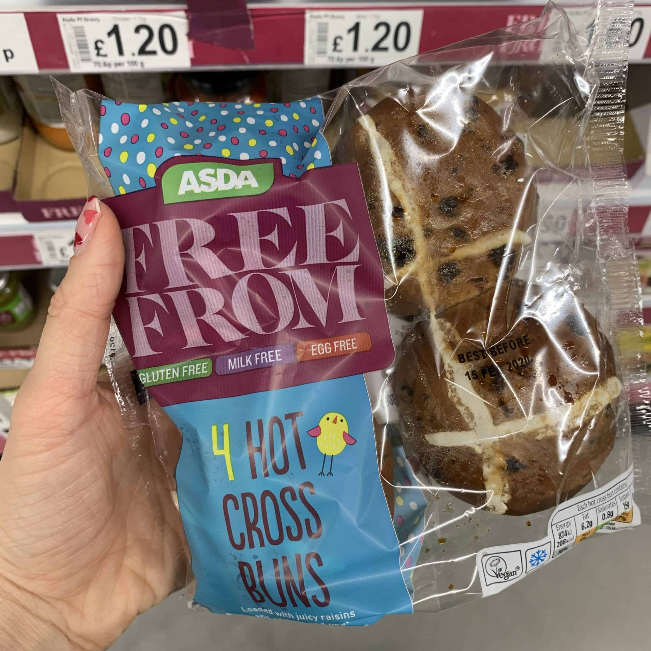 asda gluten free hot cross buns