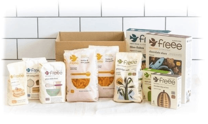 freee by doves farm trial box gluten free