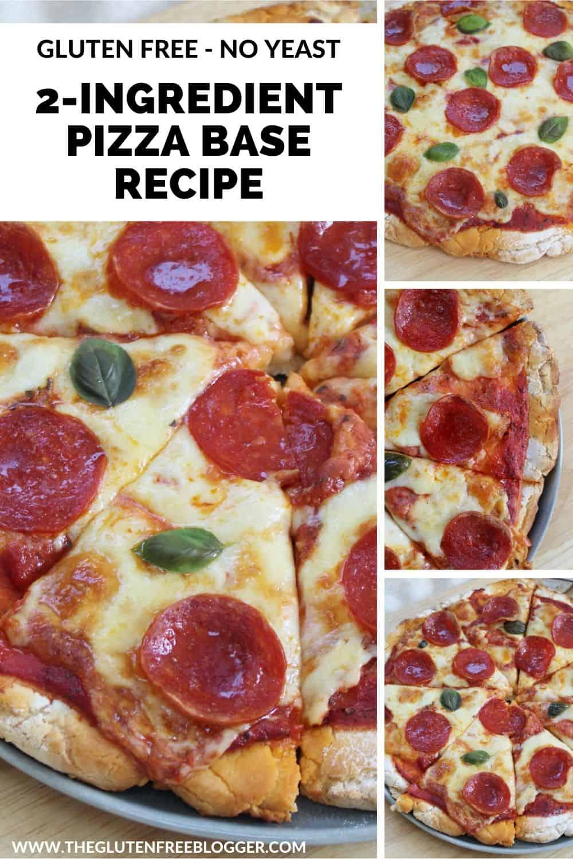 EASY 2 INGREDIENT GLUTEN FREE PIZZA BASE RECIPE DEEP PAN THIN CRUST BAKE (2)