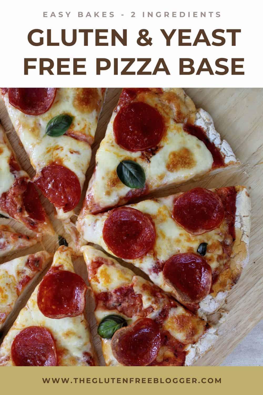 EASY 2 INGREDIENT GLUTEN FREE PIZZA BASE RECIPE DEEP PAN THIN CRUST BAKE