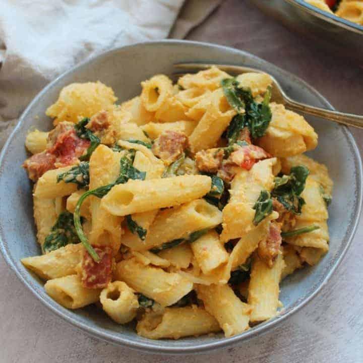 gluten free pasta recipe with houmous 11