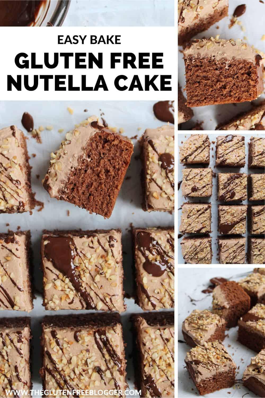 Gluten Free Nutella Cake Recipe - easy chocolate tray bake _ sheet cake bake