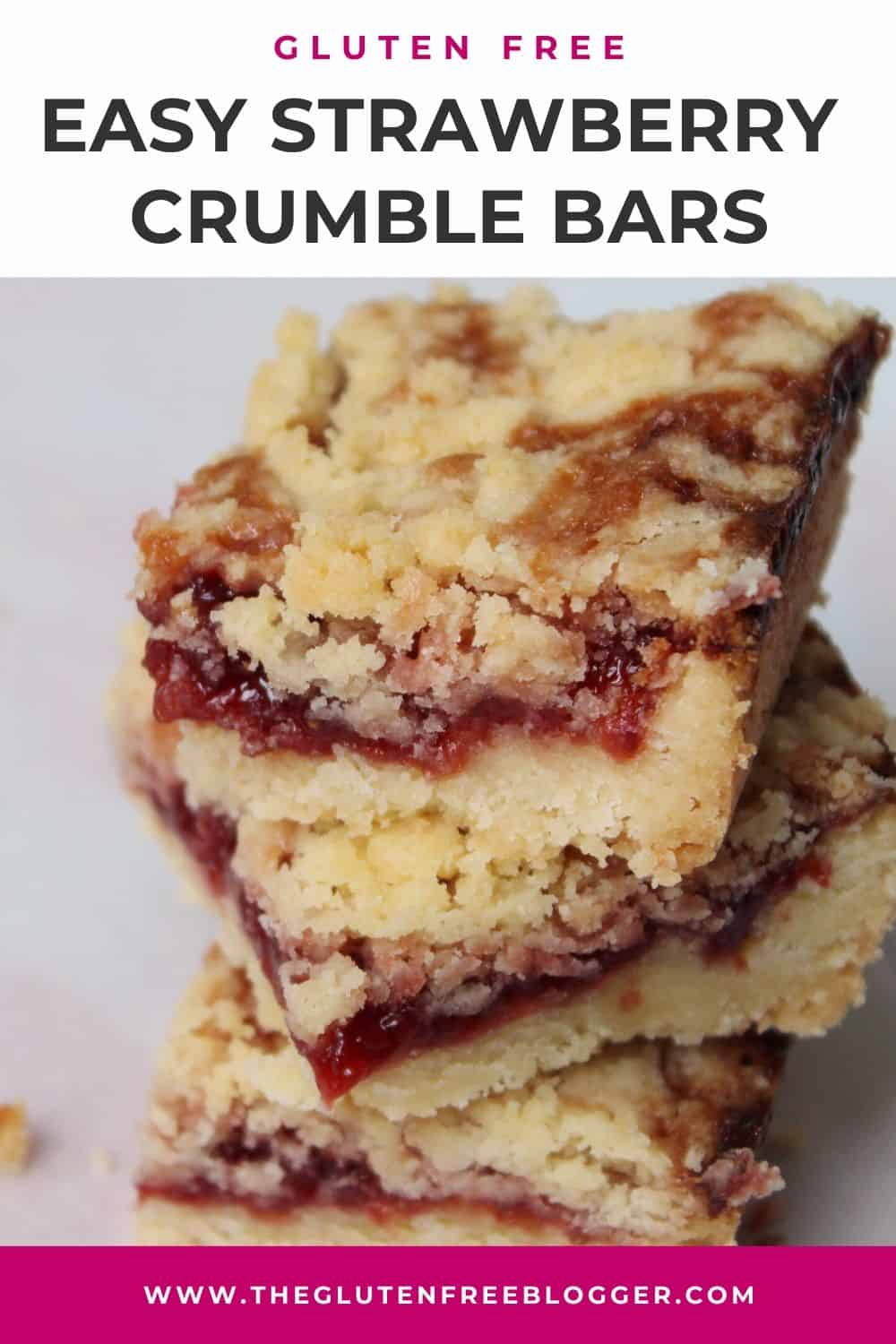 Gluten free strawberry crumble bars baking