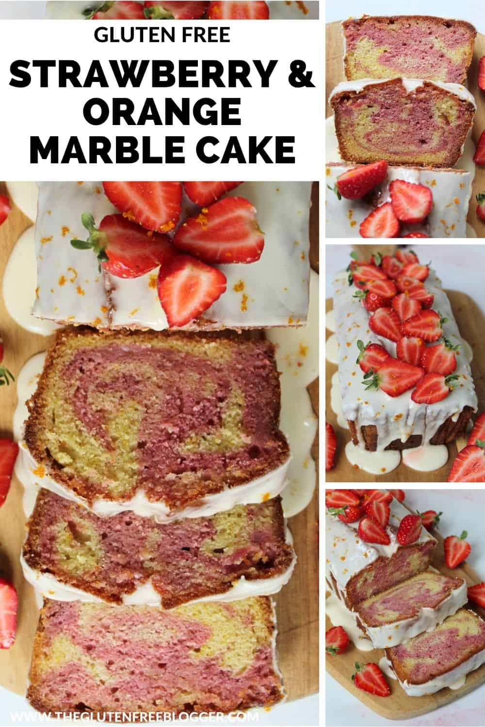 gluten free strawberry and orange marble cake loaf cake recipe baking coeliac