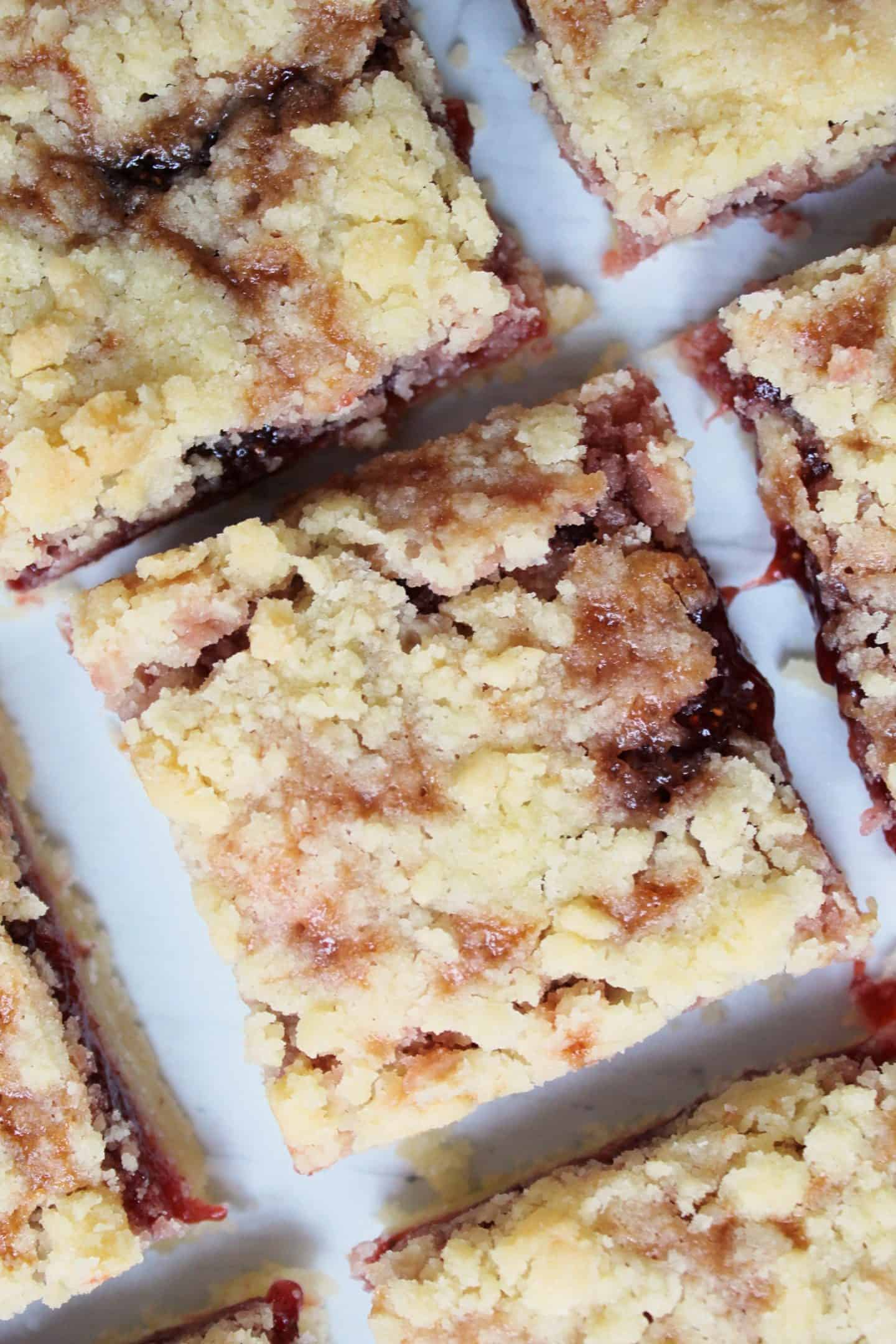 gluten free strawberry crumble bars