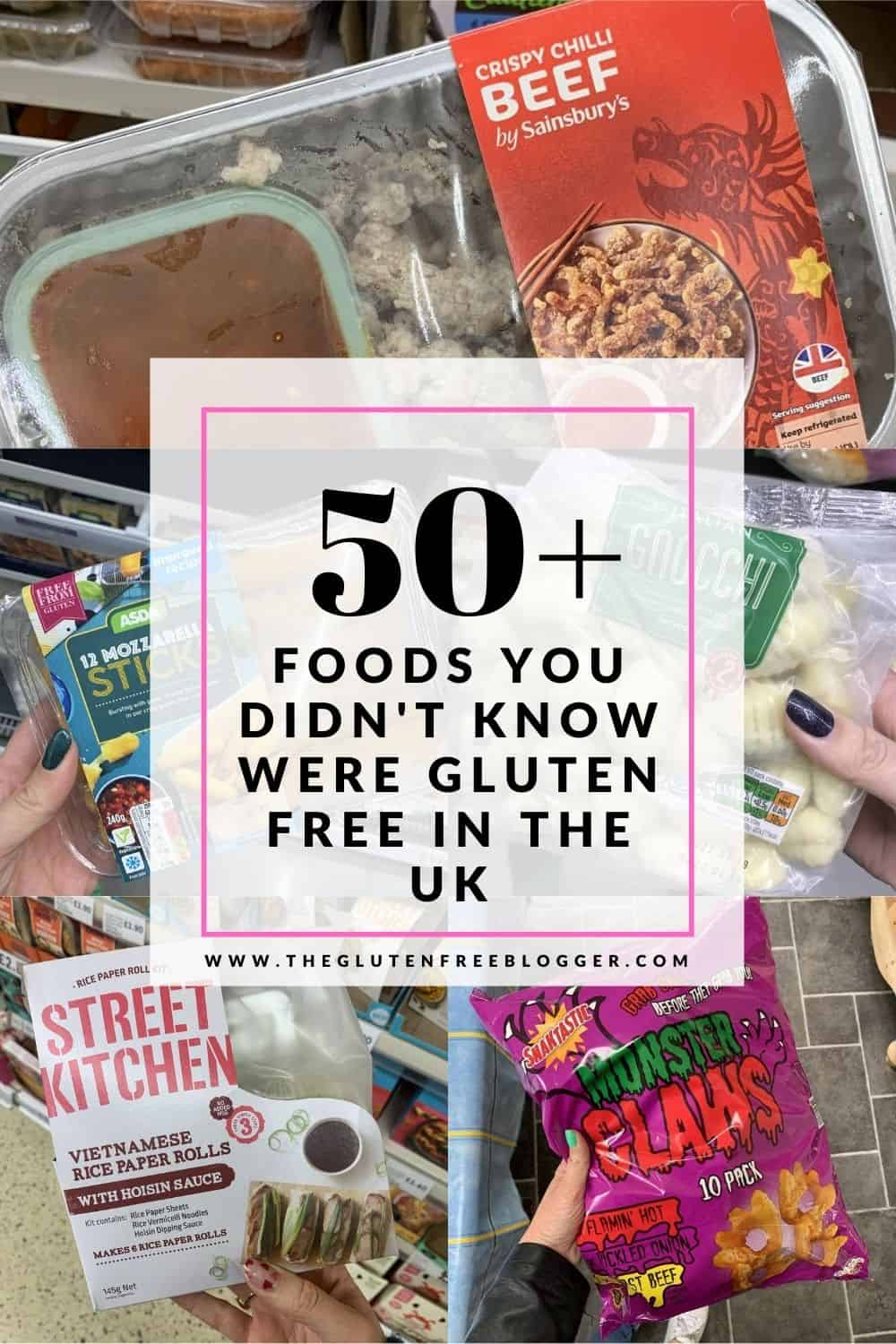 ACCIDENTALLY GLUTEN FREE FOODS IN THE UK