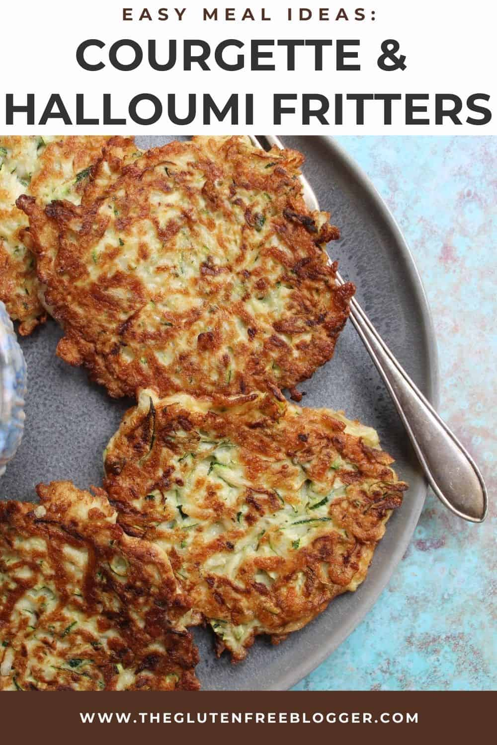 Courgette and Halloumi Fritters (Gluten Free)