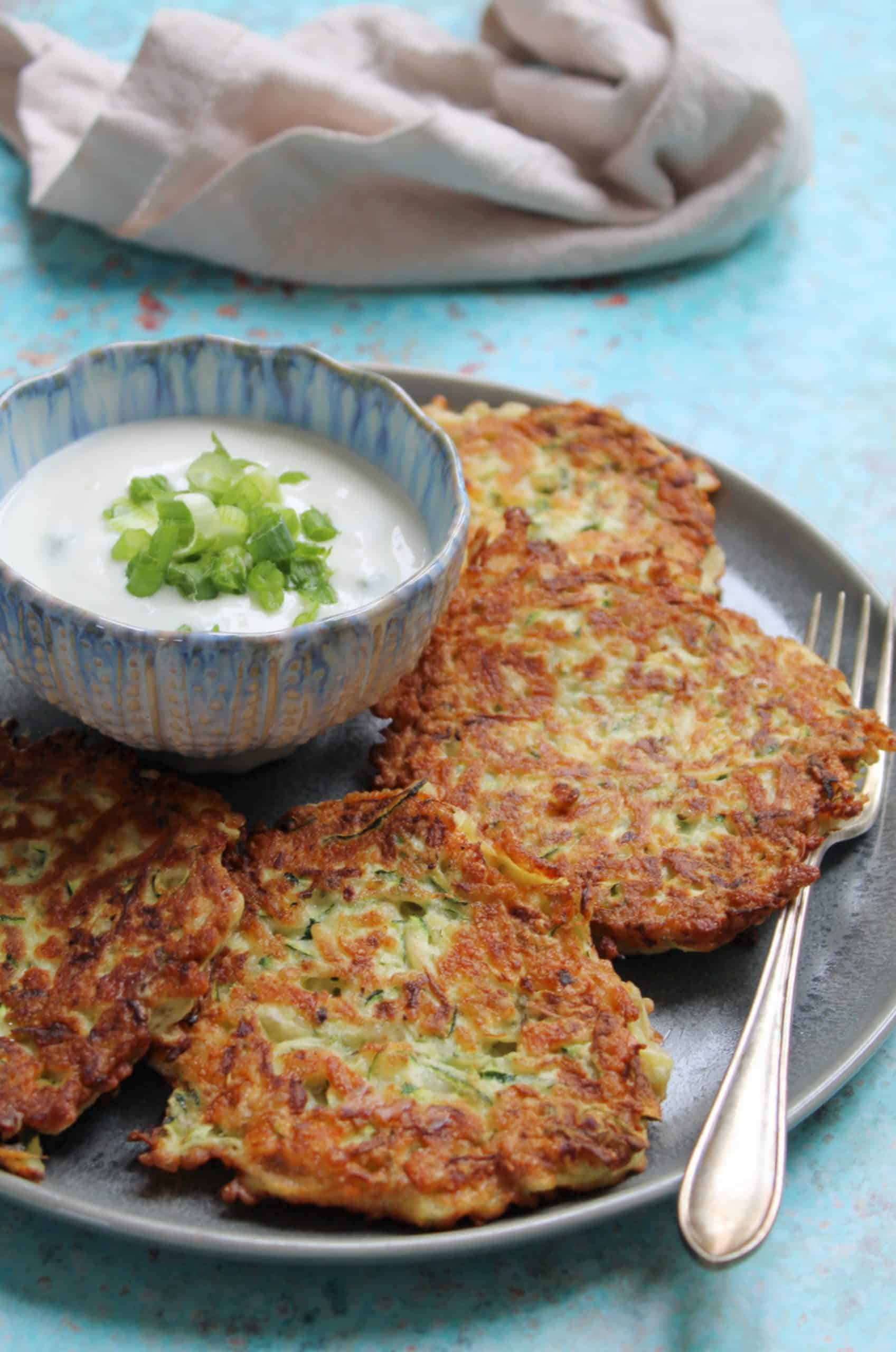 gluten free courgette and halloumi fritters recipe 2