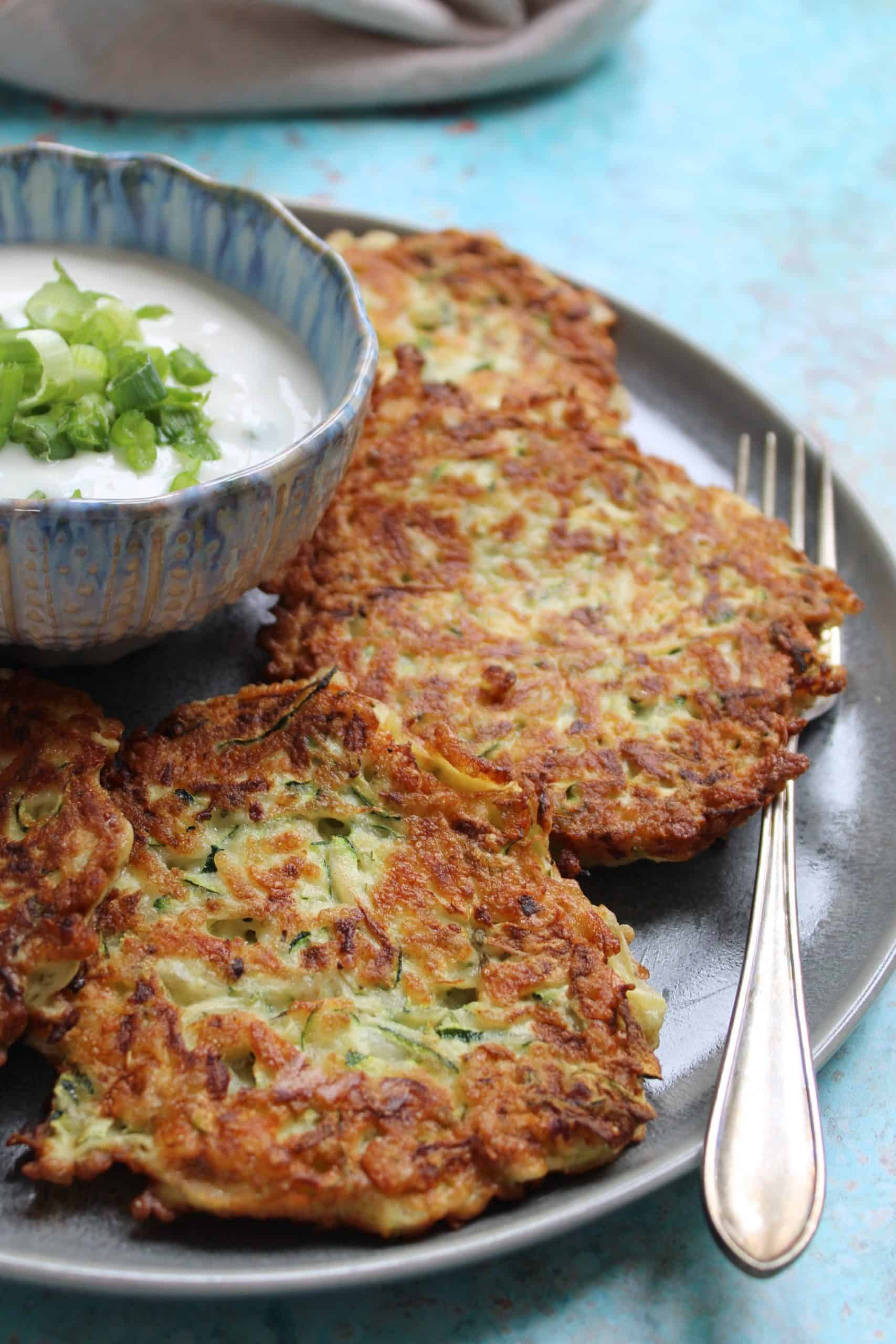 gluten free courgette and halloumi fritters recipe