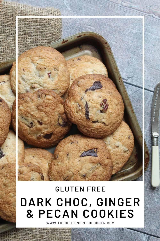 Gluten Free Cookies - Dark Chocolate, Ginger and Pecan Cookie Recipe