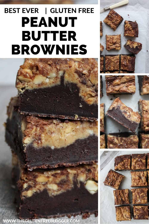 Gluten free peanut butter brownies recipe