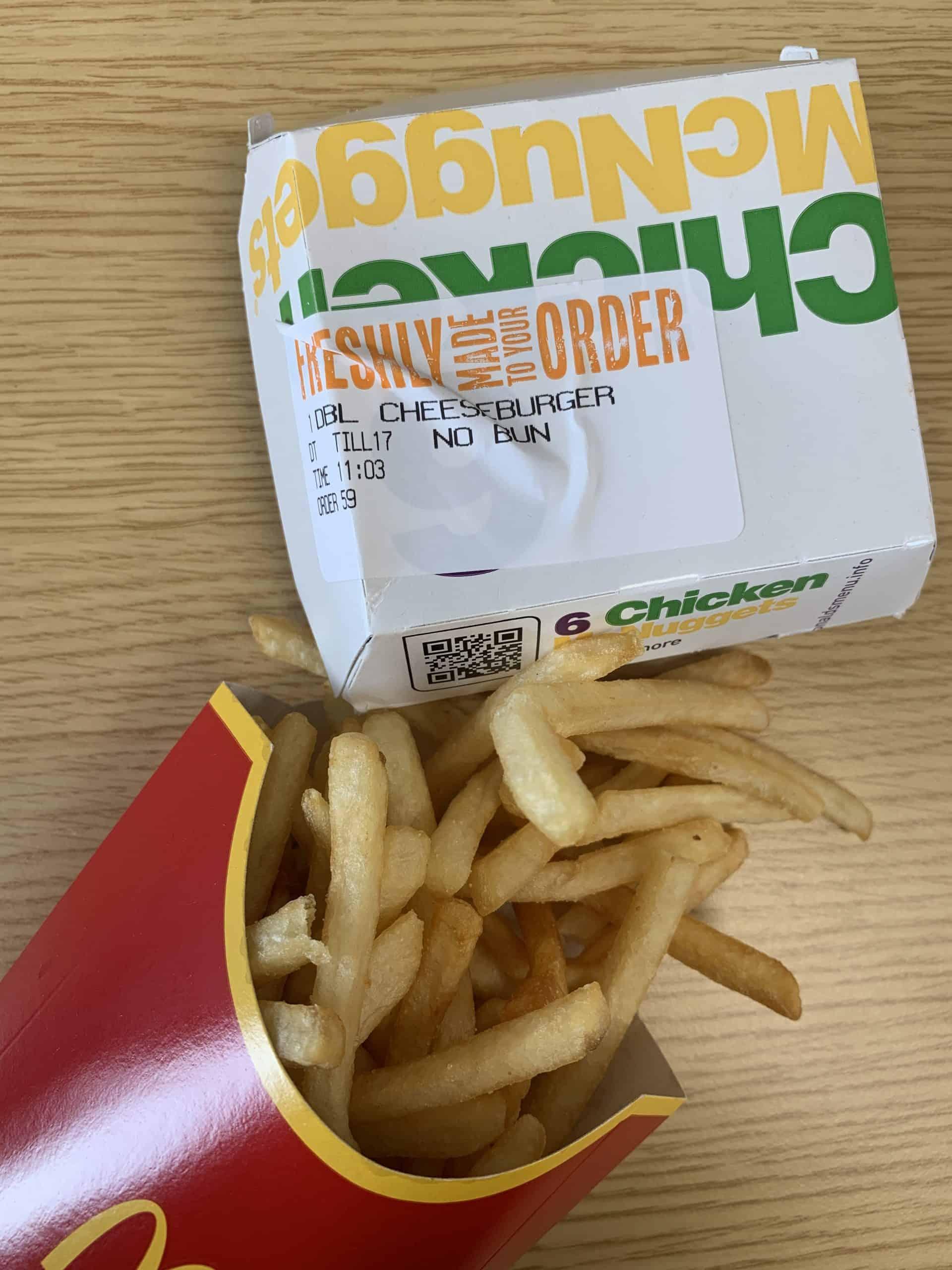 mcdonald's gluten free in the uk