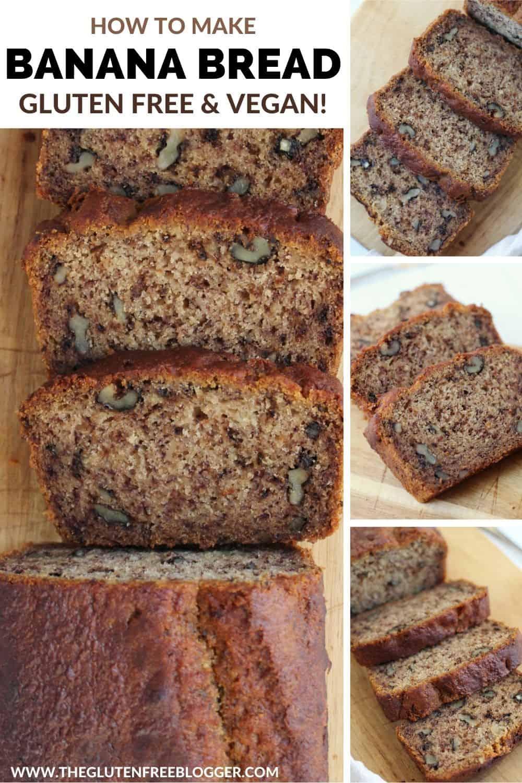 Gluten Free Vegan Banana Bread Recipe