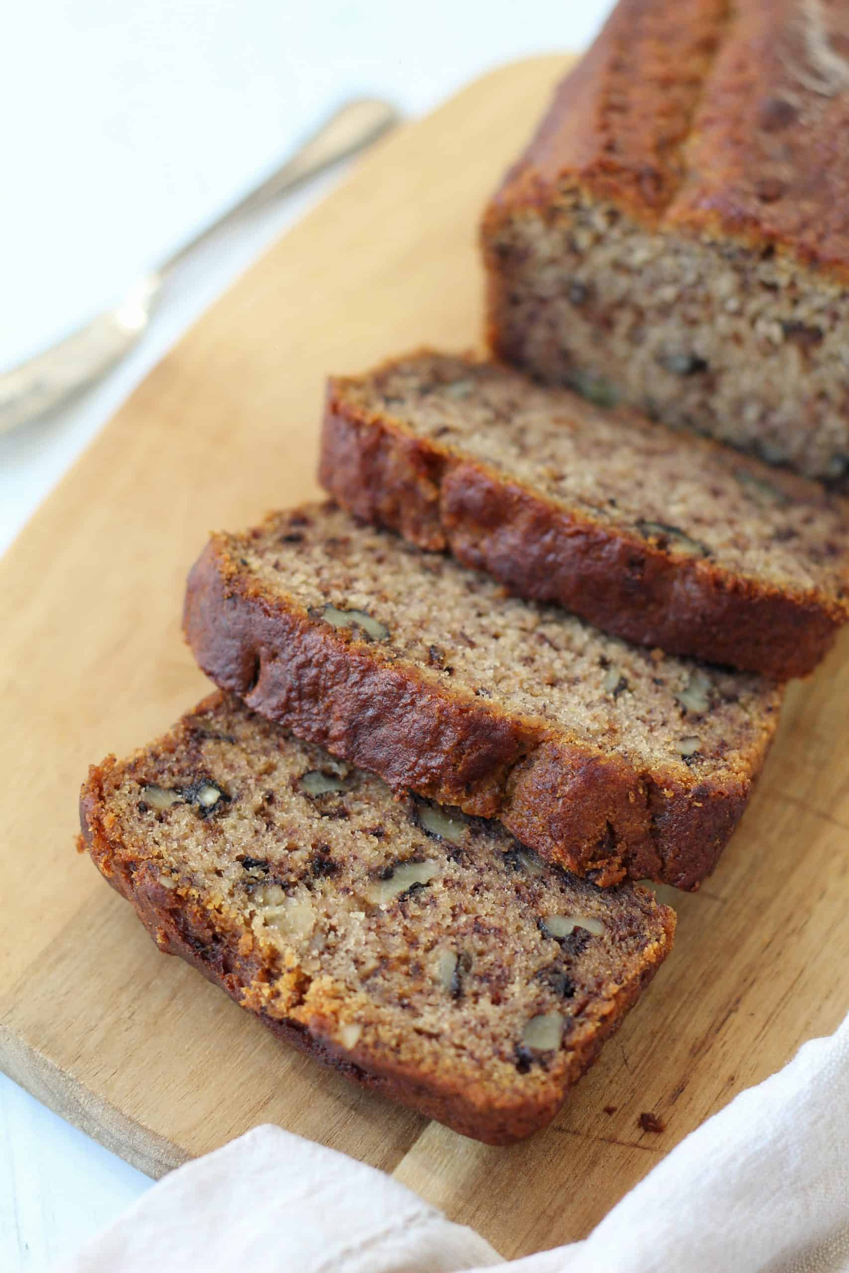 gluten free and vegan banana bread