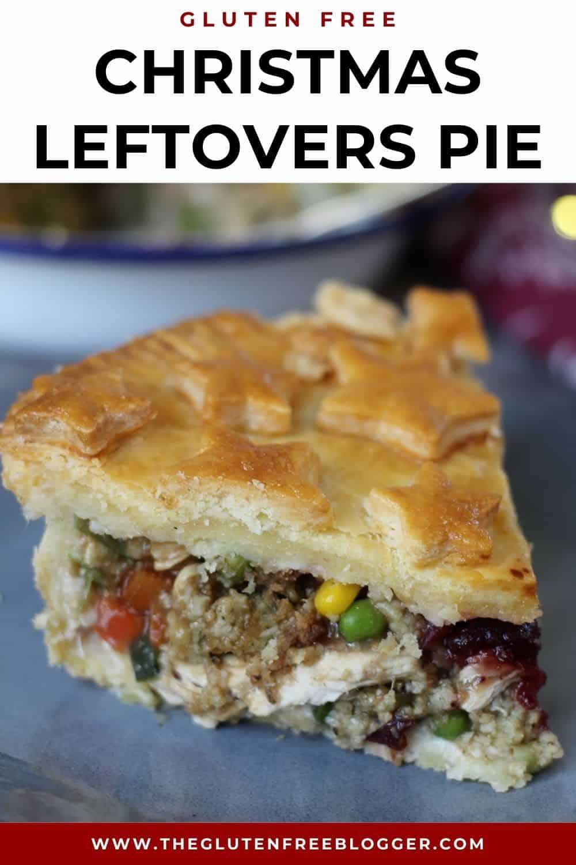 gluten free christmas leftovers pie recipe