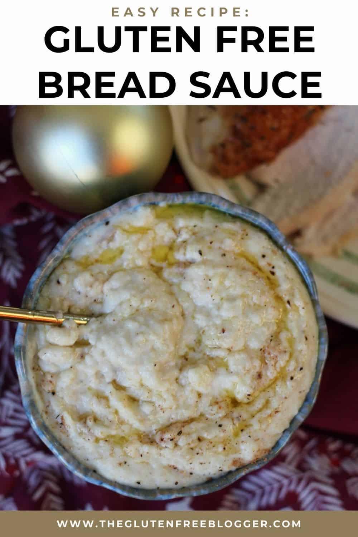 Gluten free bread sauce recipe - Christmas dinner side dish