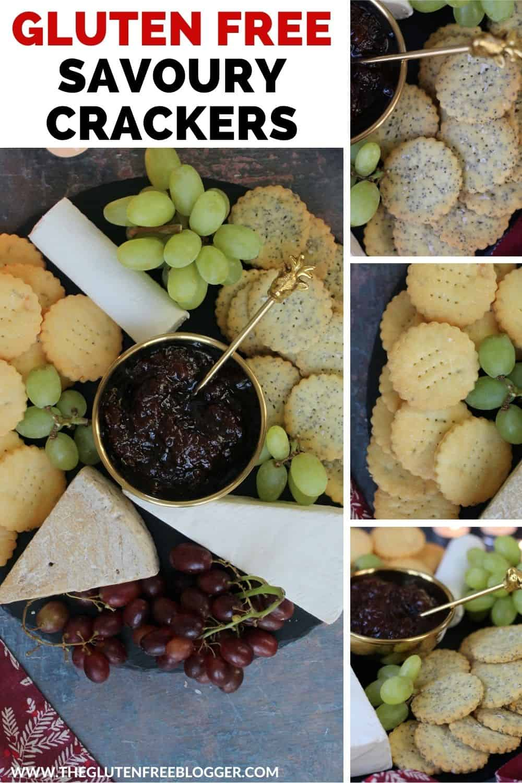 Gluten free savoury biscuits - cheese crackers