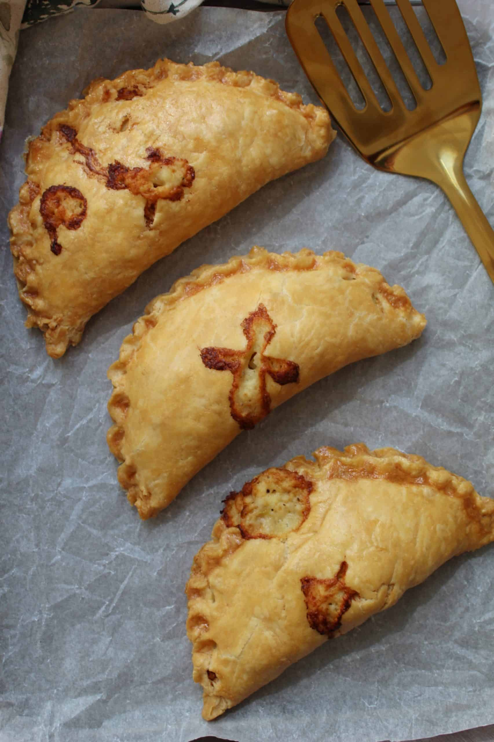 gluten free cheese and onion pasties