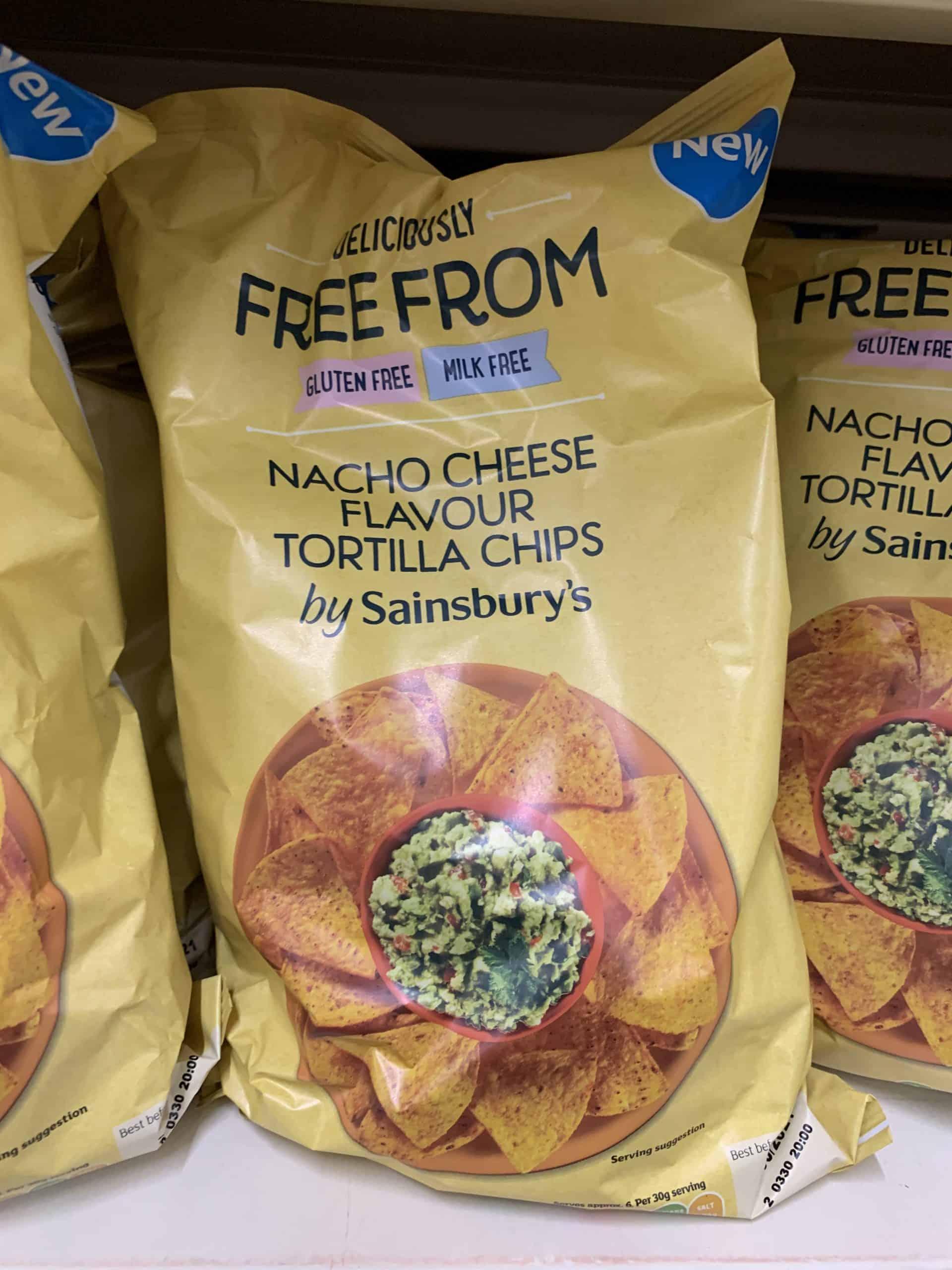 sainsburys new nachos gluten free vegan