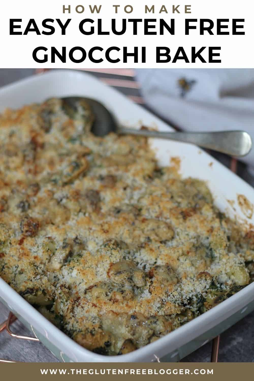 Blue Cheese and Mushroom Gnocchi Bake