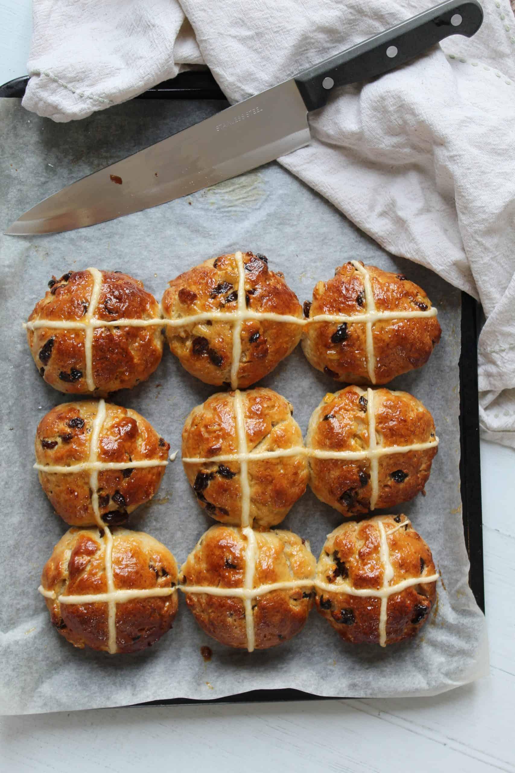 gluten free hot cross buns recipe