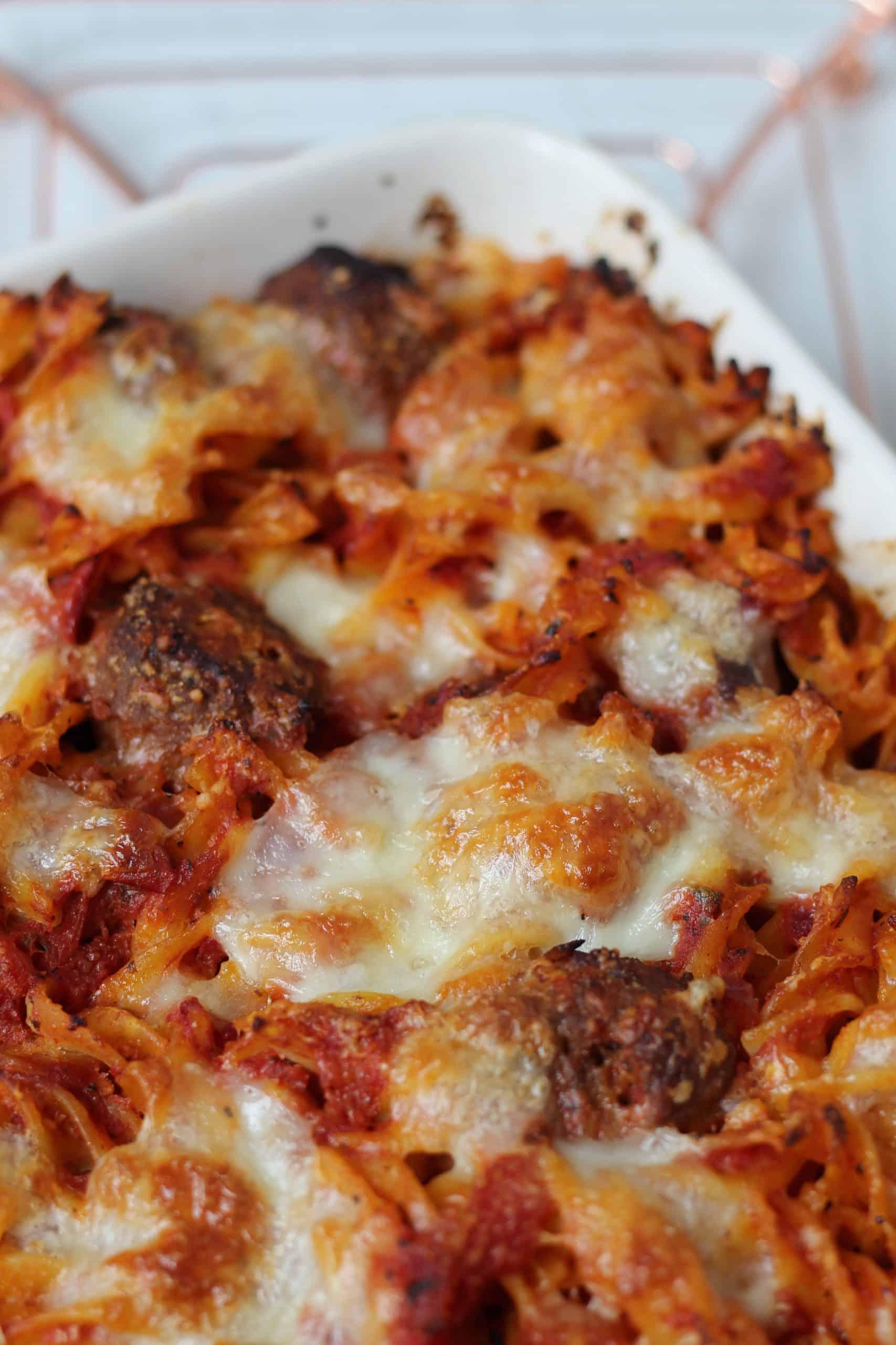 gluten free meatball pasta bake