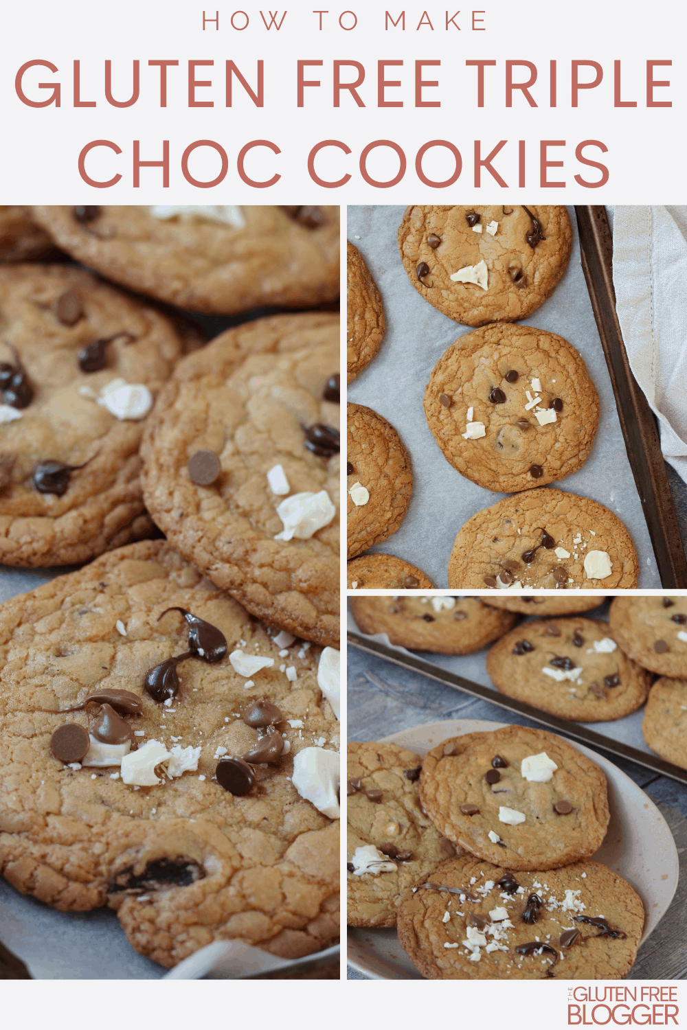 chewy gluten free cookies triple chocolate chip