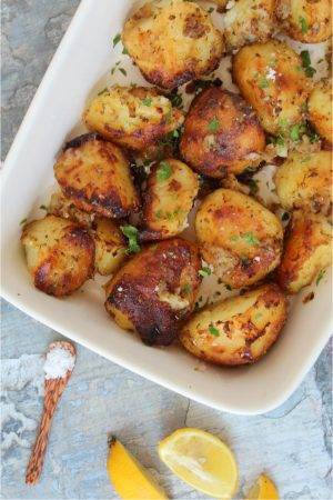 GARLIC LEMON POTATOES