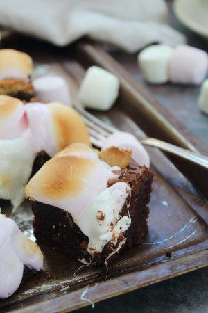 Gluten Free Smores Brownies