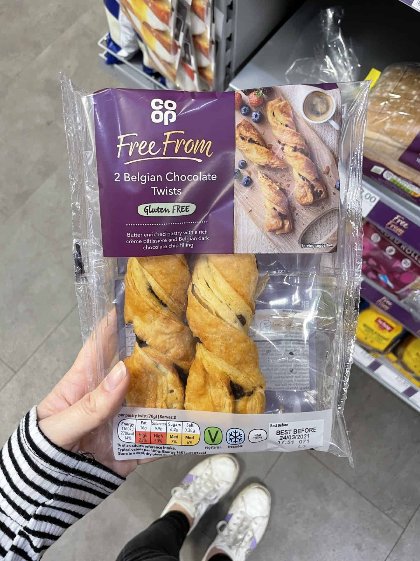 coop gluten free chocolate twists