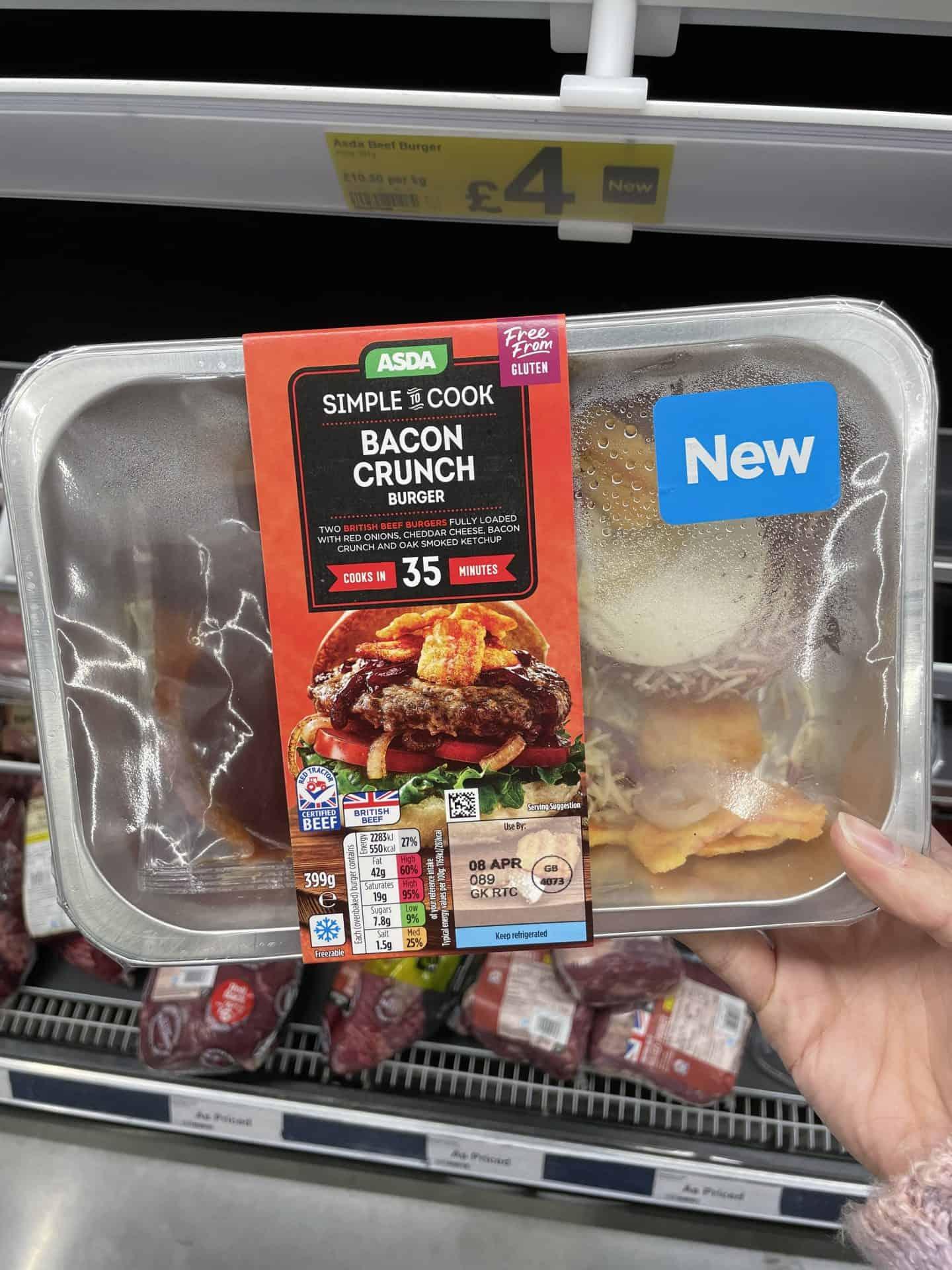 Asda bacon crunch burger kit gluten free