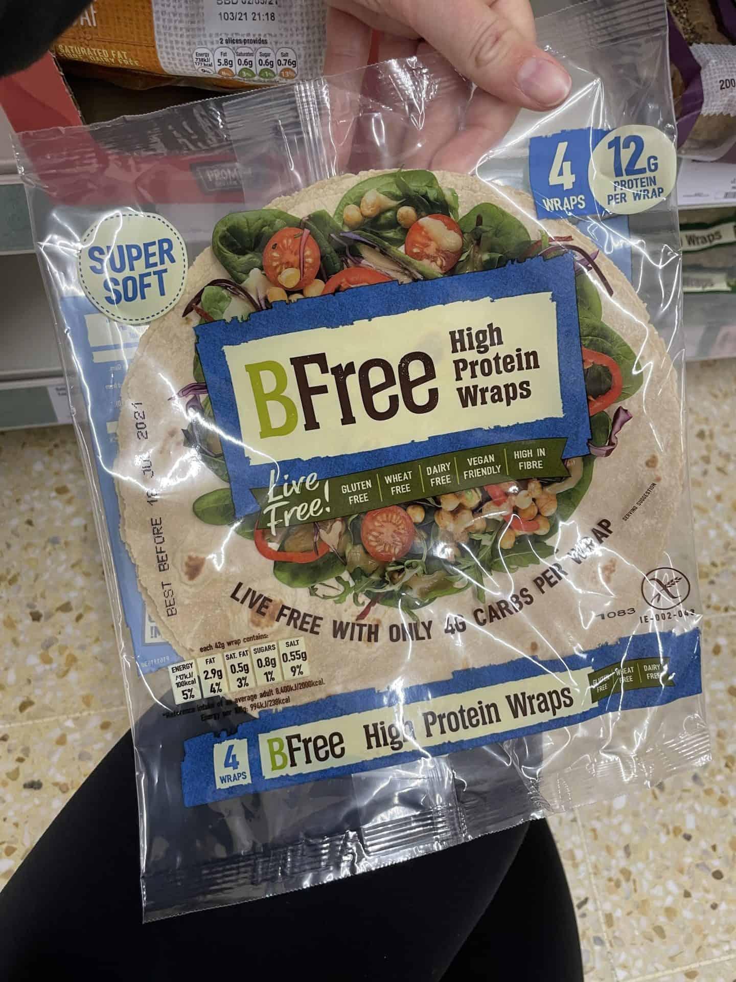 bfree high protein gluten free wraps