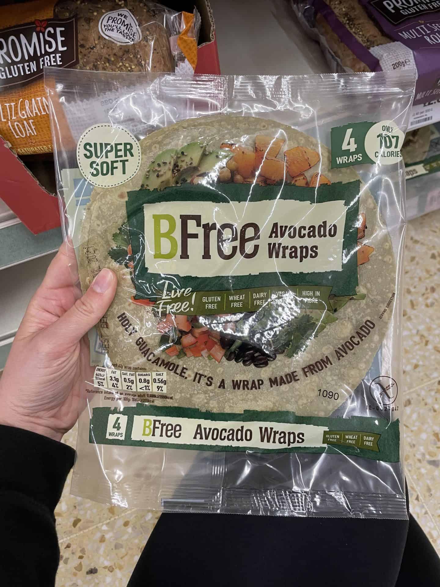 bfree gluten free vegan avocado wraps