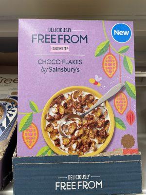 sainsbury's free from choco flakes