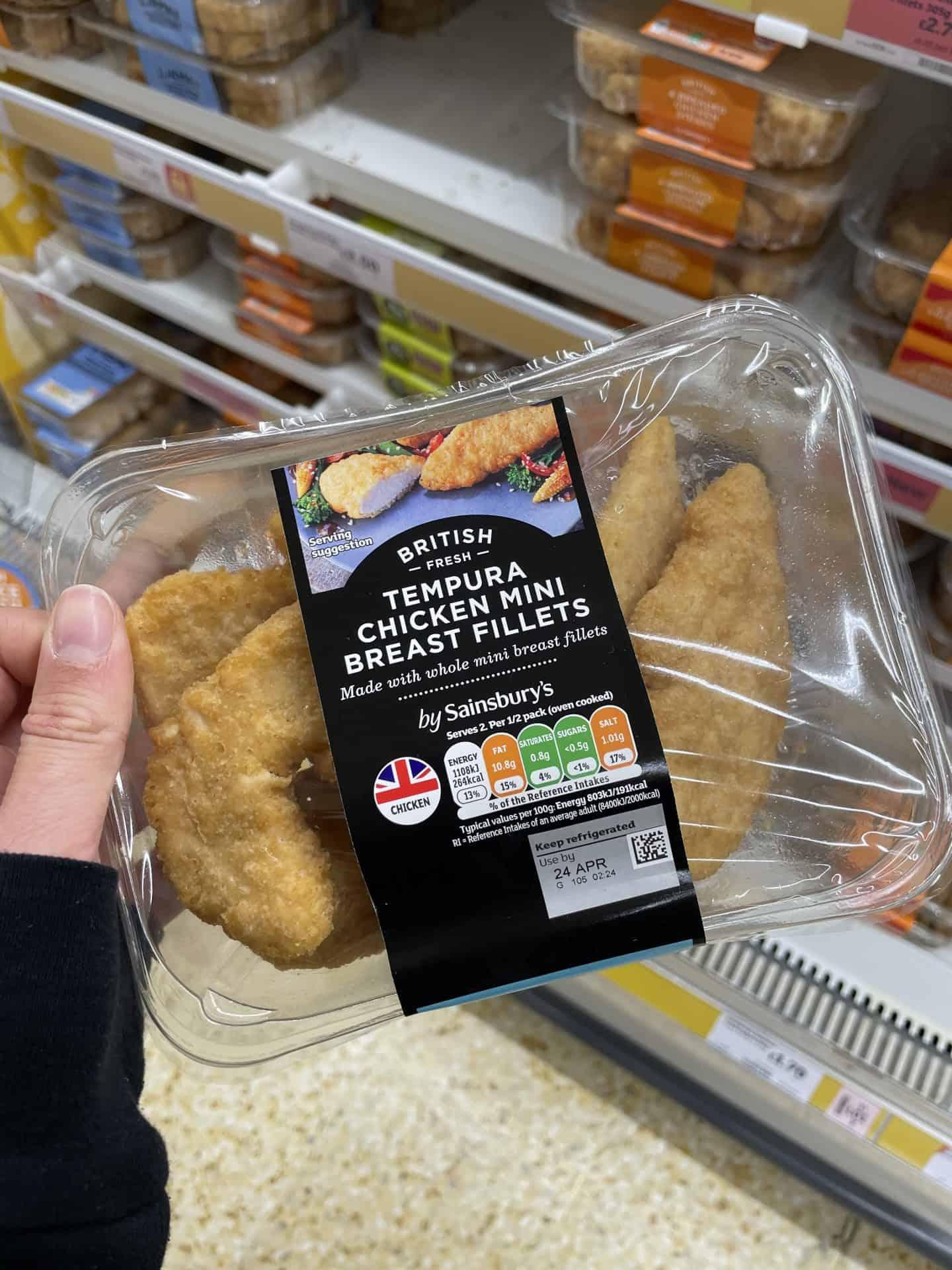Sainsbury's tempura chicken gluten free