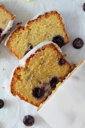 gluten free lemon and blueberry loaf