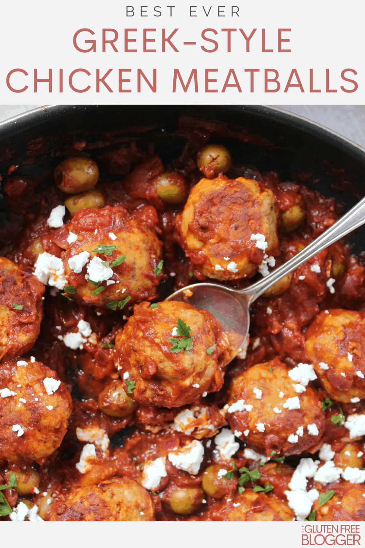greek style chicken meatballs